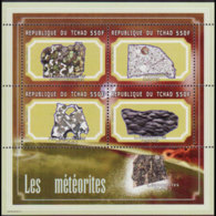 CHAD 2001 - Scott# 935 S/S Meteorites MNH - Chad (1960-...)
