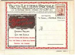 Italie Carte Lettre BLP Neuve , Publicites , Italia - 1900-44 Victor Emmanuel III