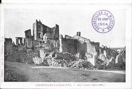 GERBEVILLER-LA-MARTYRE : Rue Carnot (Mars 1915) - Gerbeviller