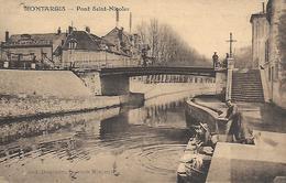 45)  MONTARGIS  - Pont Saint Nicolas  (  Lavandière  ) - Montargis