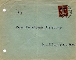 1922- Enveloppe Ouverte Affr/ Y & T. N°49 Seul - Memel (1920-1924)