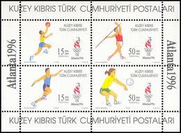** Cyprus - Turkish - 1996 - Olympic Games 1996 - Mi. (432-5), Bl. 16 - Estate 1996: Atlanta