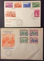 AFGU3 République De Guinée Exposition Mondiale New York + Adduction Eau Conakry FDC Premier Jour 1962 1964 Lot 2 Lettre - Guinée (1958-...)