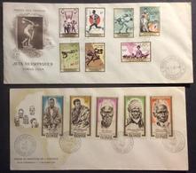 AFGU4 République De Guinée Jeux Olympiques Tokyo + Héros Et Martyrs  FDC Premier Jour 1962 1964 Lot 2 Lettre - Guinée (1958-...)