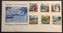 AFGU5 République De Guinée Paysages Et Sites FDC Premier Jour 1965 Lettre - Guinée (1958-...)