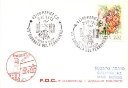 PARMA GIORNATA DEL FERROVIERE   ESPOSIZIONE FILATELICA 1983 FDC      (GENN200925) - Esposizioni Filateliche