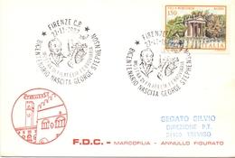 FIRENZE MOSTRA DI FILATELIA FERROVIARIA GEORGE STEPHENSON 1982      (GENN200930) - Esposizioni Filateliche