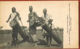 SOUDAN FRANCAIS- Haute-Volta- Mission Des Pères  Blancs- Tambours Des Grandes Fêtes SAMOS--scans Recto Verso- - Sudan