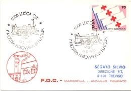 LUCCA MOSTRA DI FILATELIA FERROVIARIA 1980    (GENN200931) - Esposizioni Filateliche