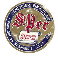 ETIQUETTE De FROMAGE..CAMEMBERT Fabriqué En NORMANDIE (Manche 50-AF)..St Pern - Cheese