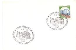 PESCARA  MOSTRA DI FILATELIA FERROVIARIA 1988  (GENN200934) - Esposizioni Filateliche