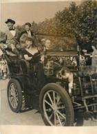 PHOTO ORIGINALE CONCOURS D'ELEGANCE AUTOMOBILE EN 1948 ESPLANADE DU LAC D'ENGHIEN 18 X 13 CM - Automobile