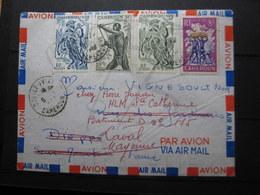 VEND BEAUX TIMBRES DU CAMEROUN N° 285 + 290 + 291 + 297 SUR LETTRE !!! - Cameroun (1915-1959)