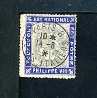 Type BLANC N° 107 Sur Porte Timbre PHILIPPE VIII N° 720 Yvert (livret De L'expert 2010) - 1900-29 Blanc
