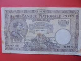 BELGIQUE 100 FRANCS 1923 CIRCULER (B.6) - [ 2] 1831-... : Reino De Bélgica