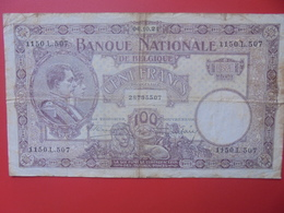 BELGIQUE 100 FRANCS 1924 CIRCULER (B.6) - [ 2] 1831-... : Regno Del Belgio