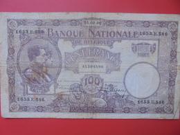 BELGIQUE 100 FRANCS 1926 CIRCULER (B.6) - [ 2] 1831-... : Regno Del Belgio