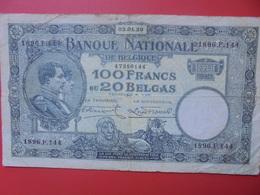 BELGIQUE 100 FRANCS 1930 CIRCULER (B.6) - 100 Franchi & 100 Franchi-20 Belgas