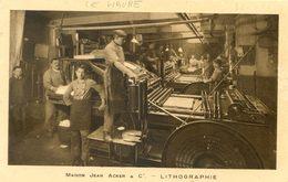 Maison Jean Acker & Cie - Lithographie - Intérieur D'une Imprimerie - Pub Expert Comptable Albert Beziers - Vari
