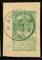 Frgt  CP  Type56  Obl Relais  Aubange + 15 - 1893-1907 Armoiries
