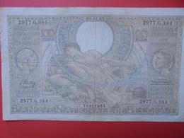 BELGIQUE 100 FRANCS 1937 CIRCULER (B.6) - [ 2] 1831-... : Royaume De Belgique