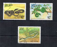 Vietnam - 1988 - Tematica Animali - Serpenti - 3 Valori - Usati - (FDC19466) - Vietnam