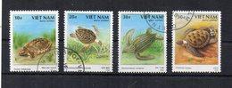 Vietnam - 1988 - Tematica Animali - Tartarughe - 4 Valori - Usati - (FDC19467) - Vietnam