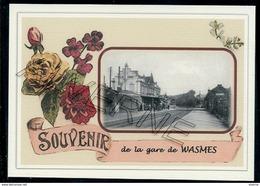 WASMES ....  2 Cartes Souvenirs Gare ... Train  Creations Modernes Série Limitée - Colfontaine