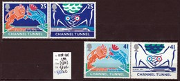 4 Timbres Neufs**  N° 1758  à 1761 Inauguration Du Tunnel Sous La Manche - 1952-.... (Elizabeth II)