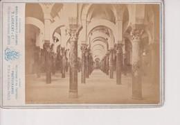 Juan Laurent Minier ESPAÑA CÓRDOBA MEZQUITA CATEDRAL  J LAURENT MADRID 16*10CM CABINET PHOTOGRAPHS - Anciennes (Av. 1900)