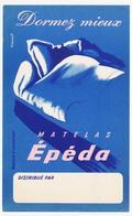 Buvard 13 X 21 Les Matelas EPEDA  Illustrateur Villemot - Carte Assorbenti