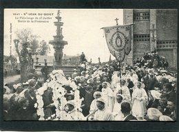 CPA - SAINT JEAN DU DOIGT - Pèlerinage Du 23 Juillet - Sortie De La Procession, Très Animé - Saint-Jean-du-Doigt
