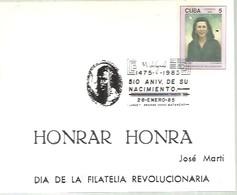 POSTMARKET CUBA MODIGLIANI 1985 - Arte