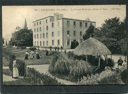 CPA - LOCQUIREC - Le Grand Hôtel Des Bains - Le Parc, Animé - Locquirec