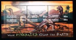 St.Vincent  2001   Dinosaurs And Prehistoric Animals - St.Vincent & Grenadines