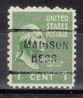 USA Precancel Vorausentwertung Preo, Locals Nebraska, Madison 712 - Vereinigte Staaten