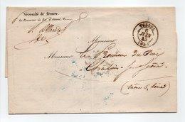 - Lettre VESOUL (Haute-Saône) Pour CHALONS-SUR-SAÔNE 6 JUIN 1845 - A ETUDIER - - Marcofilie (Brieven)
