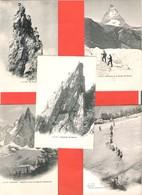 74 HAUTE SAVOIE Lot 5 Cartes Précurseur J.J. Neuves Alpinisme, Glaciers Bossons, Chamonix - Frankrijk