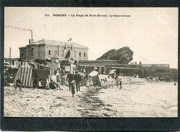 CPA - Karten Bost - ROSCOFF - La Plage De Roch Kroum - Le Sanatorium, Animé  (dos Non Divisé) - Roscoff