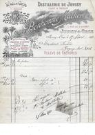 JUVISY-SUR-ORGE  - BONHOMME MALHERBE  Distillerie De JUVISY ABSINTHE Et Liqueurs - Levensmiddelen