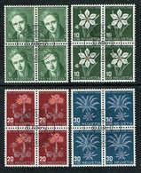 PRO/J. SERIE BLOCS DE 4 OBLITERES 1946 C/.S.B.K. J117/J120. Y&TELLIER Nr:433/436. MICHEL Nr:475/478. - Pro Juventute