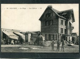 CPA - ROSCOFF - La Plage - Les Cabines, Animé - Roscoff