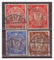 Danzig, Nr. 214x,y-216x, Gestempelt - Danzig