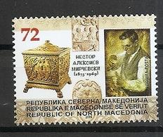 MACEDONIA NORTH,MAZEDONIEN  2019,50 ANN OF THE DETH OF NESTOR ALEKSIEV MIRCEVSKI,MNH - Macedonië