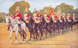 London  The Life Guards Marching Trough The Park With Horses  Stamp Olympic Games 1948   Barry 4956 - Autres