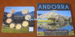 BU ANDORRA ANDORRE 2017 UNC KMS 8 Coins - STGL Euro Set Divisionale Brilliant Universal - Andorra
