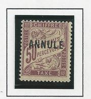 Timbre Taxe , Cours D'instruction 50c Brun N°37 CI 1 Neuf * Surcharge Haute De 1923 - Lehrkurse