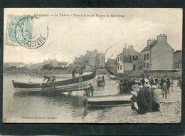 CPA - ROSCOFF - Le Thévin - Mise à L'eau Du Bateau De Sauvetage, Très Animé - Roscoff