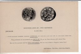 Cpa Dipondium  Monnaie Jerusalem - Münzen (Abb.)