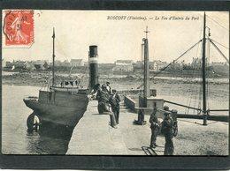 CPA - ROSCOFF - Le Feu D'entrée Du Port, Animé - Roscoff